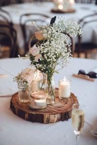 Decoration fleur et bougies